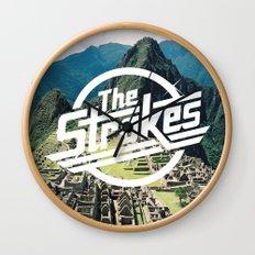 The Strokes Logo Machu Picchu Wall Clock