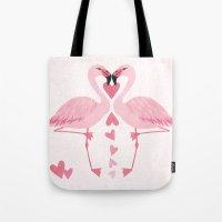 Flamingo Love. Tote Bag