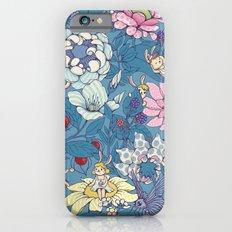 Garden party - lady gray version Slim Case iPhone 6s