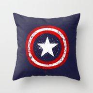 Captain's America Splash Throw Pillow