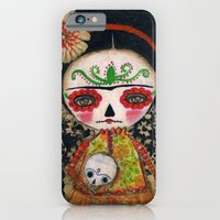 Frida The Catrina And The Skull - Dia De Los Muertos Mixed Media Art iPhone 6 Slim Case