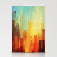 photography Stationery Cards featuring Urban sunset by SensualPatterns