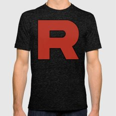 Team Rocket Logo - Pokemon Minimal Poster  Mens Fitted Tee Tri-Black SMALL