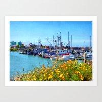 Boat Docks In Humboldt Art Print
