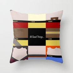 All Good Things - square Minimalist Star Trek TNG The Next Generation 1701 D  startrek  Trektangles Throw Pillow
