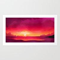 A Panoramic Sunset Art Print