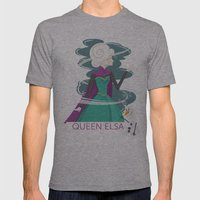 QUEEN ELSA Mens Fitted Tee Athletic Grey SMALL