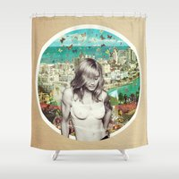 Falling Free Shower Curtain