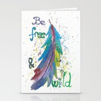 Be Free Be Wild Stationery Cards