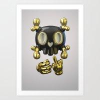 Crossbone SkullToon Art Print