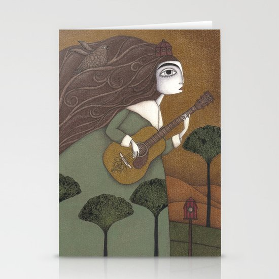 The Guitar Player Stationery Card