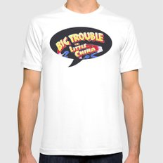 Big Trouble in Little China SMALL White Mens Fitted Tee