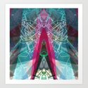 space origami Art Print
