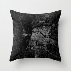 Memphis map Throw Pillow
