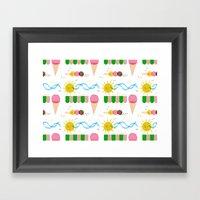 Ice Cream Summer Framed Art Print