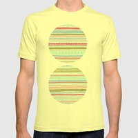 Reddish Pattern Mens Fitted Tee Lemon SMALL