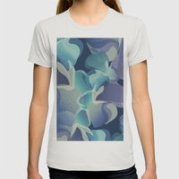 Micro Blue Womens Fitted Tee Silver SMALL
