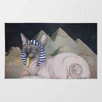Sphynx Cat (space bg) Rug