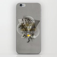 Keep calm and breathe deeply iPhone & iPod Skin