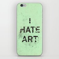 I HATE ART / PAINT iPhone & iPod Skin