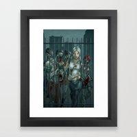 Zombie Slayer Framed Art Print