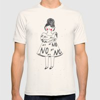 No Mens Fitted Tee Natural SMALL