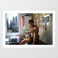 Singapore boy Art Print