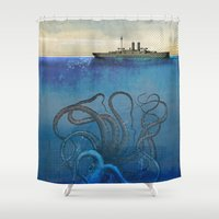 Sea Monster Shower Curtain