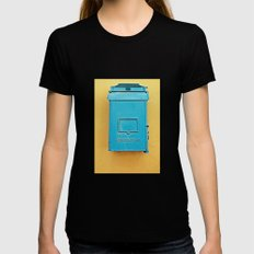 Mailbox Womens Fitted Tee Black SMALL