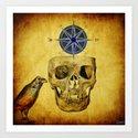 The crane compass Art Print