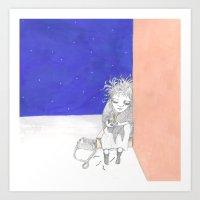 La pequeña vendedora de cerillas Art Print