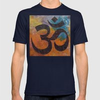 Om Mens Fitted Tee Navy SMALL