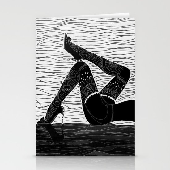Oh la la - black & white Stationery Card
