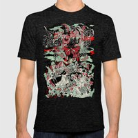 UNINVITED GARDEN Mens Fitted Tee Tri-Black SMALL