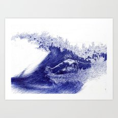 Surf in Ink Art Print
