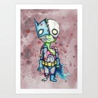 Zom-Bat Art Print