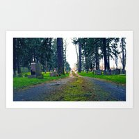 Art Print featuring Quiet cemetery by Vorona Photography