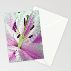 Pink Lily in Macro Stationery Cards