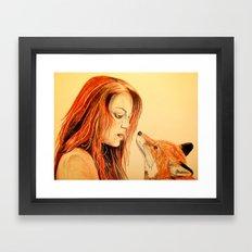 The Girl and the Fox Framed Art Print
