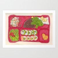 BentoBox Sushi Art Print