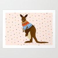 Kangaroooooo Art Print