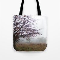 Tree in the mist Tote Bag