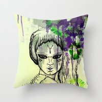 Tribal Beauty 1 Throw Pillow