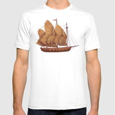 Winged Odyssey SMALL Mens Fitted Tee White