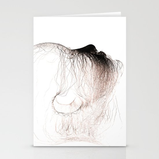 The head of love Stationery Card