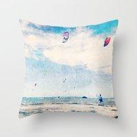 Kite Sailing  Throw Pillow