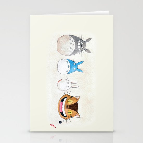 Make the Unlikeliest of Friends, Wherever You Go Stationery Card