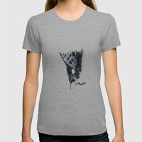 Alien Head Side Womens Fitted Tee Athletic Grey SMALL