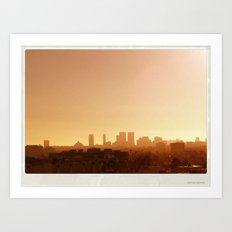 LA City Tetris Art Print