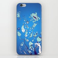 Aquatic Creatures iPhone & iPod Skin